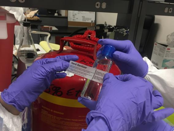 A group of researchers in the School of Animal and Comparative Biomedical Sciences has turned to making hand sanitizer for health care workers.