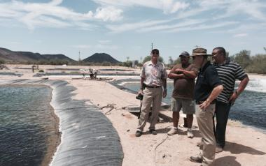 VP Burgess on a 2015 visit to Dateland, Arizona