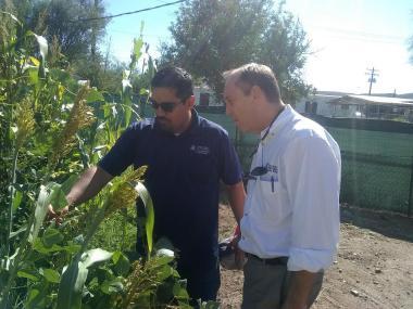 VP Burgess visiting San Carlos Apache Tribal Extension